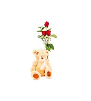 3 (standard) Roses and Bear 148