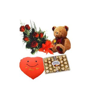 6 Red Roses Gift Pack