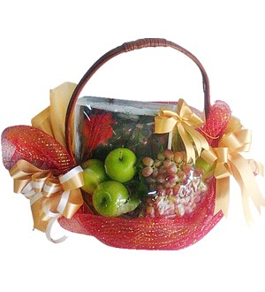 Fruit Basket With Cookies 46