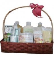 Organic Ginger and Citrus Body Care Basket